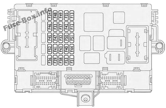 Instrument panel fuse box diagram: Fiat Croma (2005-2011