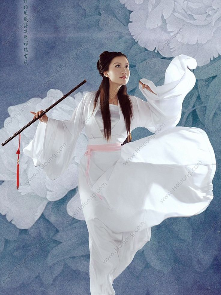 Women's Chiffon White Skirt Ruqun dress Fairy Tang Dynasty Hanfu Clothing - USD $ 215.00