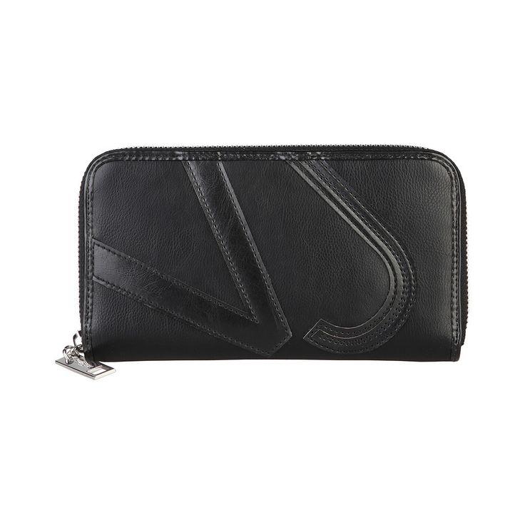 Versace Jeans E3VLBPM375741 Eco Leather Women's Wallet, Black