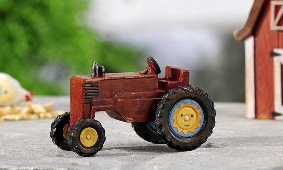Miniature Garden Country Red Tractor Decor - Jensen Nursery and Garden Centre