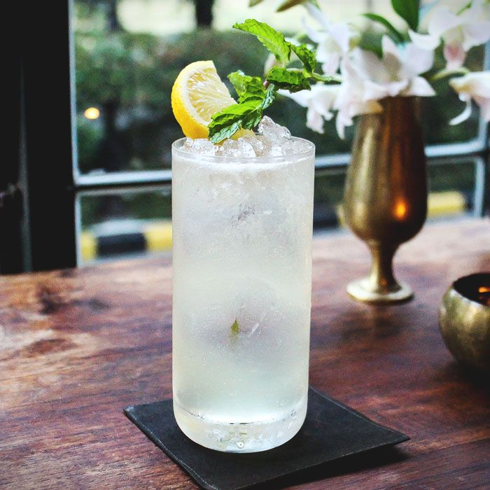 The uniqueness of the Kyuri Kotton Kandy gives E&O its' signature cocktail.