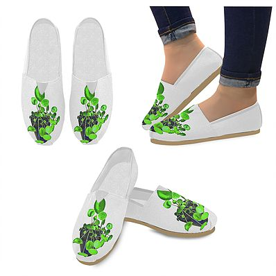 Chinese Money Plant – Slip On Canvas Shoes | Mysite – Shoes