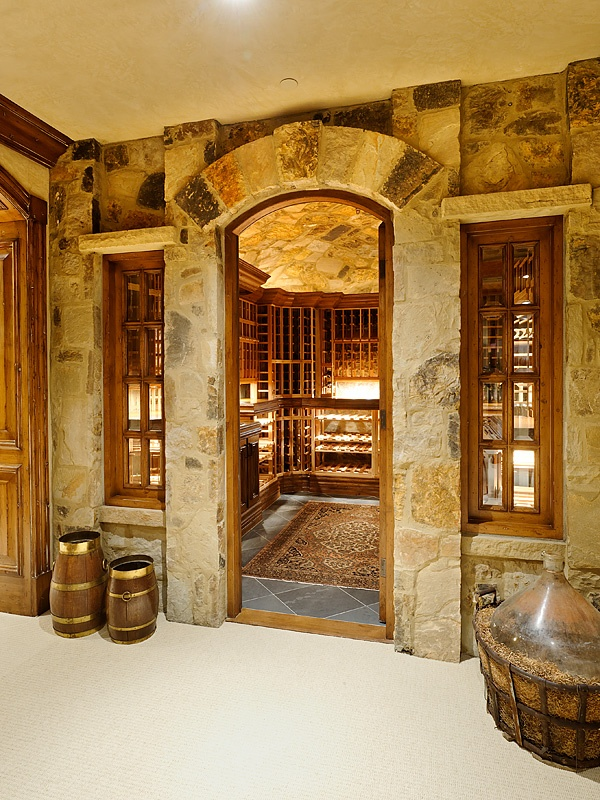 """Nice entrance to a wine cellar. I guess the space in the foreground is the """"tasting room""""?"""
