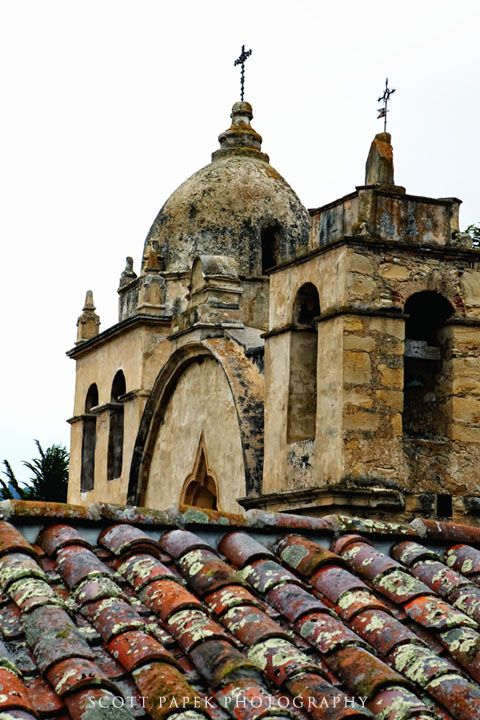 Carmel Mission Church in Monterey, California image taken by Scott Papek