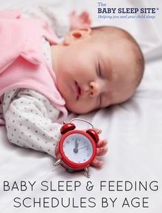 Sample Baby Sleep & Feeding Schedules By Age Here is a list of our sample baby sleep and feeding schedules, for your convenience. We strongly recommend you bookmark this page; both the sample schedules below, and the customized schedules you can generate using our simple custom sleep schedule maker (see next section for details) will grow with your child, and will be useful for a long time to come. Newborn Schedule 3 Month Old Baby Schedule 4 Month Old Baby Schedule 5 Month...