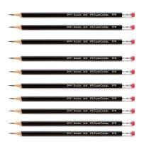 Kit-Com-10-Lapis-Grafite-1205-Max-Nº-2-Preto-com-Borracha-Faber-Castell