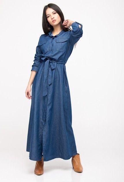 87d2b94a246 #millebacini #korydallos #rouxa #tzindressmaxi | Φόρεμα τζιν μακρύ |  #jeandressmaxi #