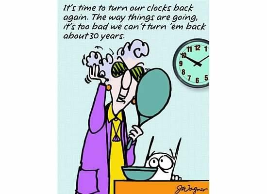 Turn clocks back