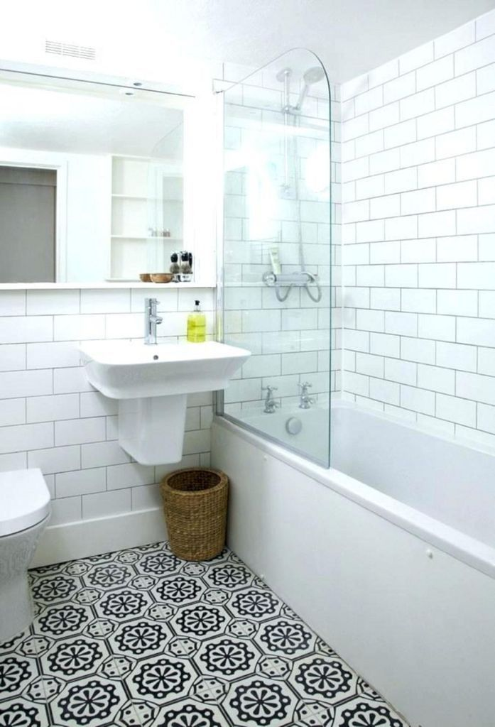 25 Wonderful Small Bathroom Floor Tile Design Ideas To Inspire You Decor It S Small Full Bathroom White Bathroom Interior Full Bathroom Remodel