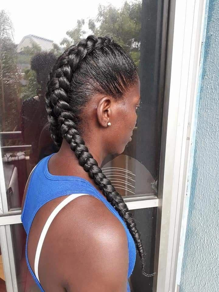 Trança boxeadora Boxer braids #boxerbraids