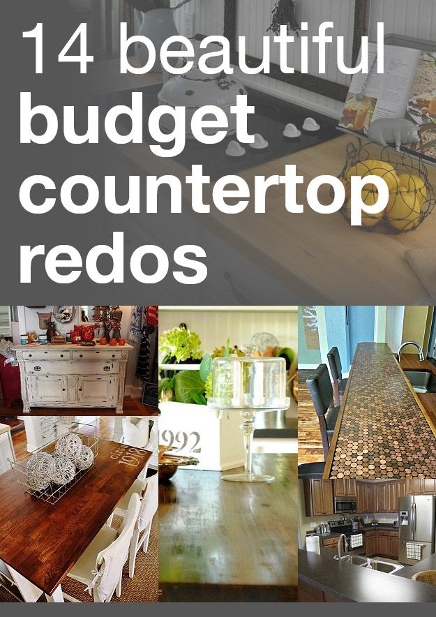 14 beautiful budget countertop redos @Emily Northup who may find this interesting or useful. No offense @Jimmy Nguyen but you know you like DIY stuff too.