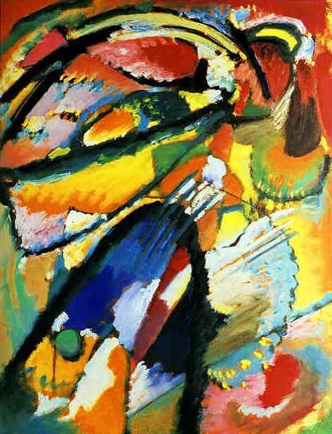 Kandinsky  'Angel of the Last Judgement'  1911  Oil on cardboard  64 x 50 cm