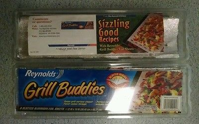 Reynolds Grill Buddies Slotted Aluminum Foil Sheets 15 New