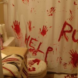 486 best images about zombie apocalypse wedding reception for Zombie bathroom decor