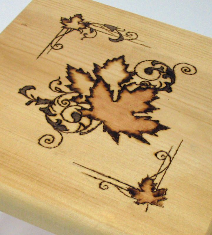 if i cant find a pinecone i like...Pyrography-Pyrography or pyrogravure is the art of decorating wood or other materials with burn marks resulting from the controlled application of a heated object such as a poker. It is also known as pokerwork or wood burning.