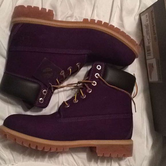 Brand new with box, purple timberland boots I love these more than anything, I just got the wrong size! Brand new never been worn. Timberland Shoes Lace Up Boots