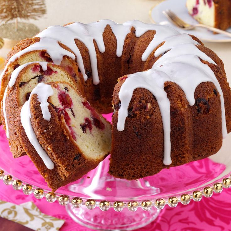 Cranberry-Almond Pound Cake Recipe -When you want an extra-special dessert for the holidays, it's hard to beat a seasonal homemade cake. I like to drizzle mine with a simple but elegant glaze flavored with amaretto. —Jackie Howell, Tucson, Arizona