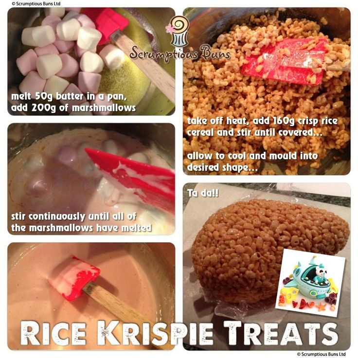 Rice Krispie Treats Pictorial & Recipe from Scrumptious Buns, UK