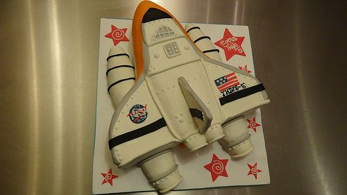 Discovery Space Shuttle Cake by CAKE Amsterdam - Cakes by ZOBOT