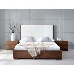 Bella Natural Walnut Bed | Living It Up