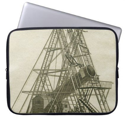 Telescope Antique SCIENCE EQUIPMENT 18TH CENTURY Computer Sleeve - #customizable create your own personalize diy