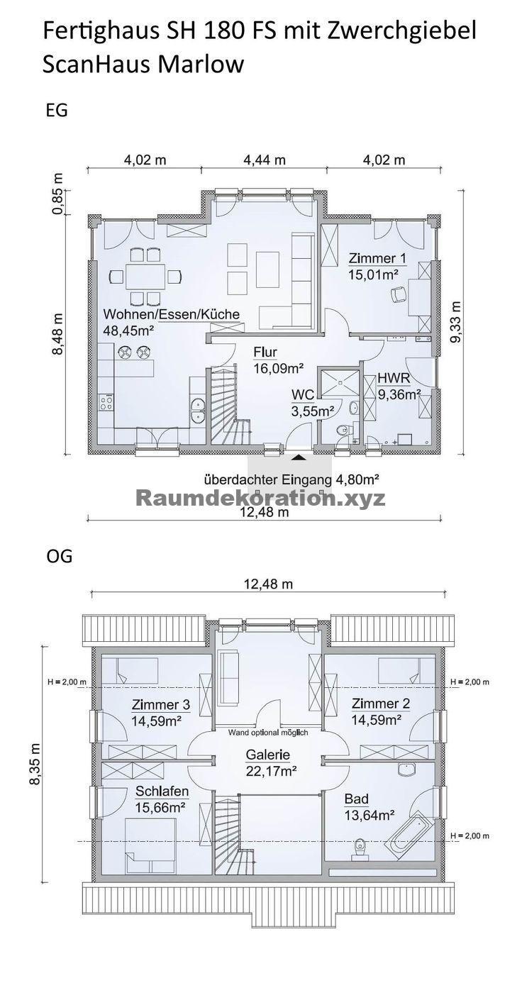 Architektur Ideen – Grundriss Einfamilienhaus Neubau modern mit Satteldach Architektur, Zwerchgiebel