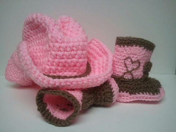 Cowboy Boots and Cowboy Hat Cowgirl baby shower Pink by Dremnstar, $33.50