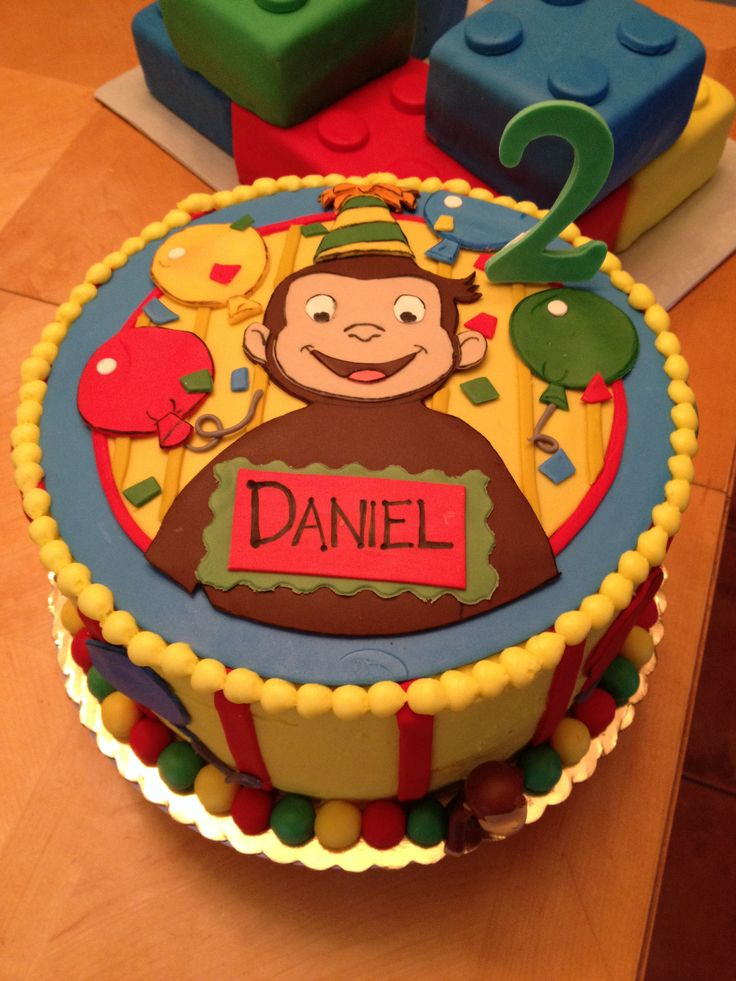 Curious George cake. Www.cakesbynadia.weebly.com