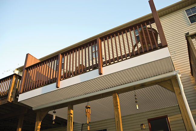 Corrugated Pvc On Deck Pvc Roofing Roof Panels Diy Patio Cover