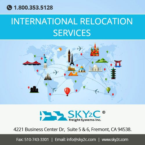 Sky2C offers our customers a stress-free #International #Relocation & #Moving service that promises a swift and secure delivery of goods from door to door.Call us Today for Free Quotes at +1 800-353-5128