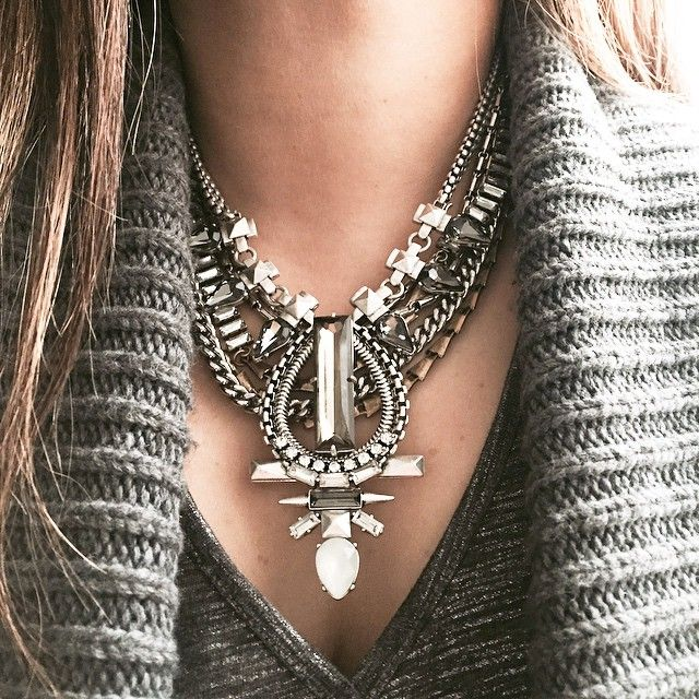 Eclipse Pendant Necklace layered over the Sutton Necklace in mixed metal {minus the sparkle strand}