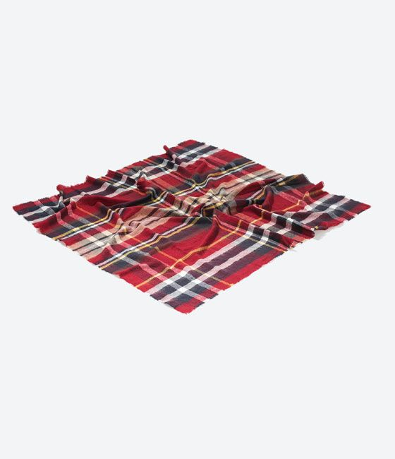 Image 1 of CHECKED SCARF from Zara