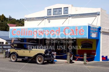 Collingwood Cafe, Golden Bay, Tasman Region, New Zealand Royalty Free Stock Photo