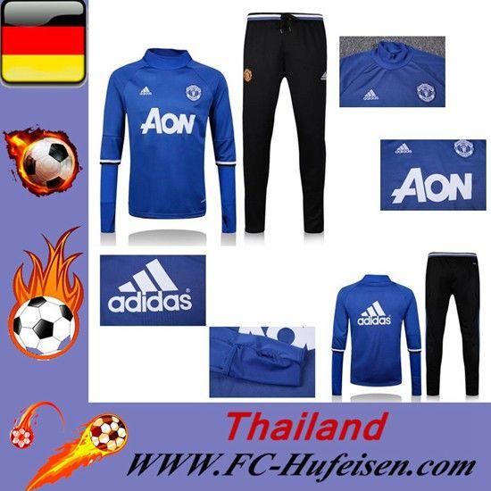 Brauch Neue Trainingsanzug Set Fussball Manchester United Blau Saison 16 17 18 Günstig Online