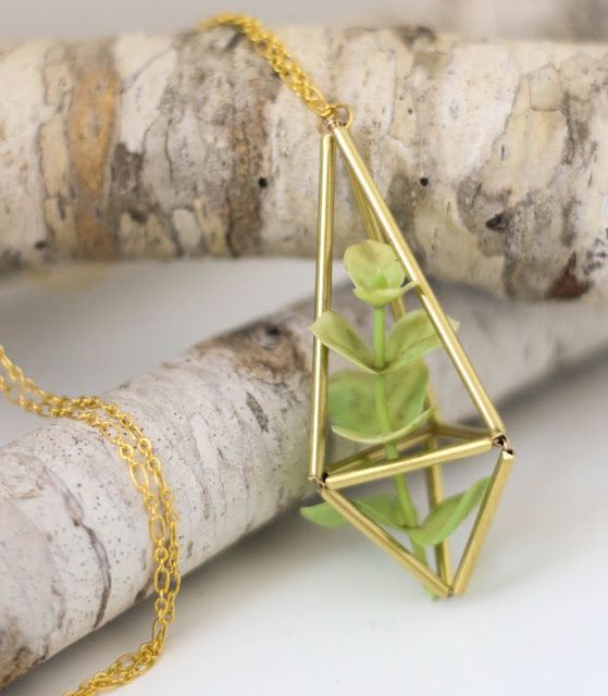 Craft It - A Brass Himmeli Succulent Necklace