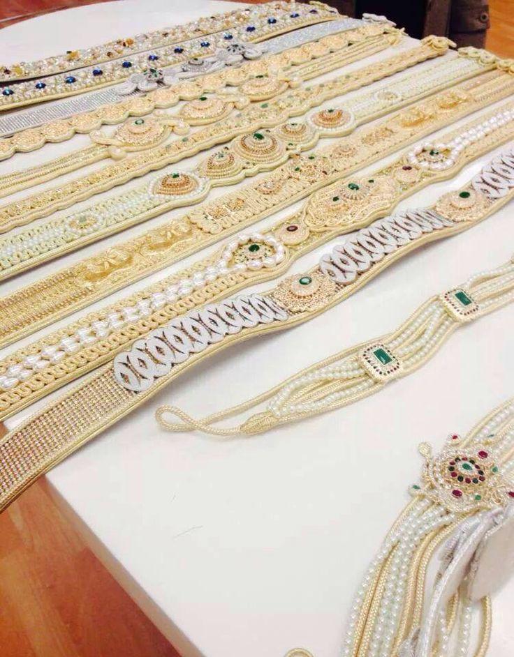 Best of Moroccan caftan: the belt. Beautiful styles