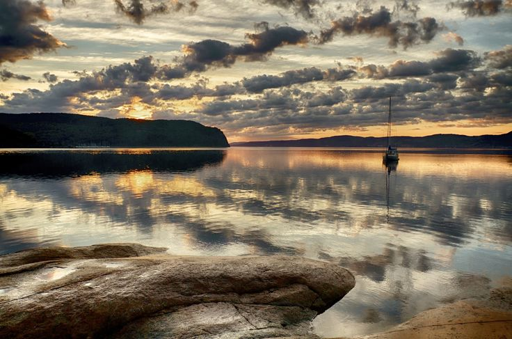 Sunrise on La Baie Des Ha! Ha! 08/26/2014 by Normand Gaudreault on 500px