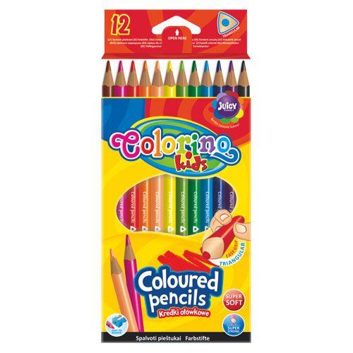 Colorino Kids háromszögletű színesceruza készlet - 12 darabos