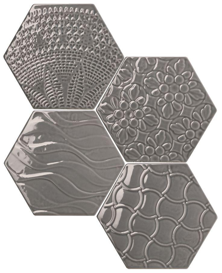 #Exarel Bright #Tonalite #Exabright #www.tonalite.it #Tiles #Piastrelle #Carreaux #Azulejos #Hexagonal #Decorated #Texture #Wall Tiles #Floor Tiles #Backsplash #Kitchen #Bathroom