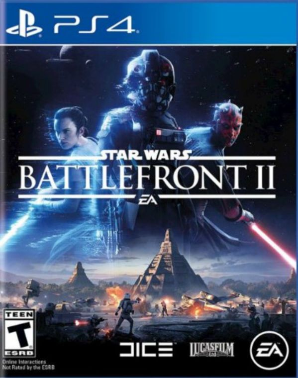 VIDEO GAME: (Star Wars) Battlefront II. BY: Electronic Arts. SERIES: Star Wars Battlefront. PLATFORM: PS4. GENRE: First Person Shooter, Third Person Shooter. RATING: T. (Teen +). MODES: Single-Player, Multiplayer. ORIGINAL RELEASE DATE: 11 / 17 / 2017.  SUMMARY: A New Hero, a Story Untold- In an emotionally gripping new Star Wars campaign that spans over 30 years. The Ultimate Battleground Galactic-Scale Space Combat-Space combat has been designed for Star Wars Battlefront II from the ground…