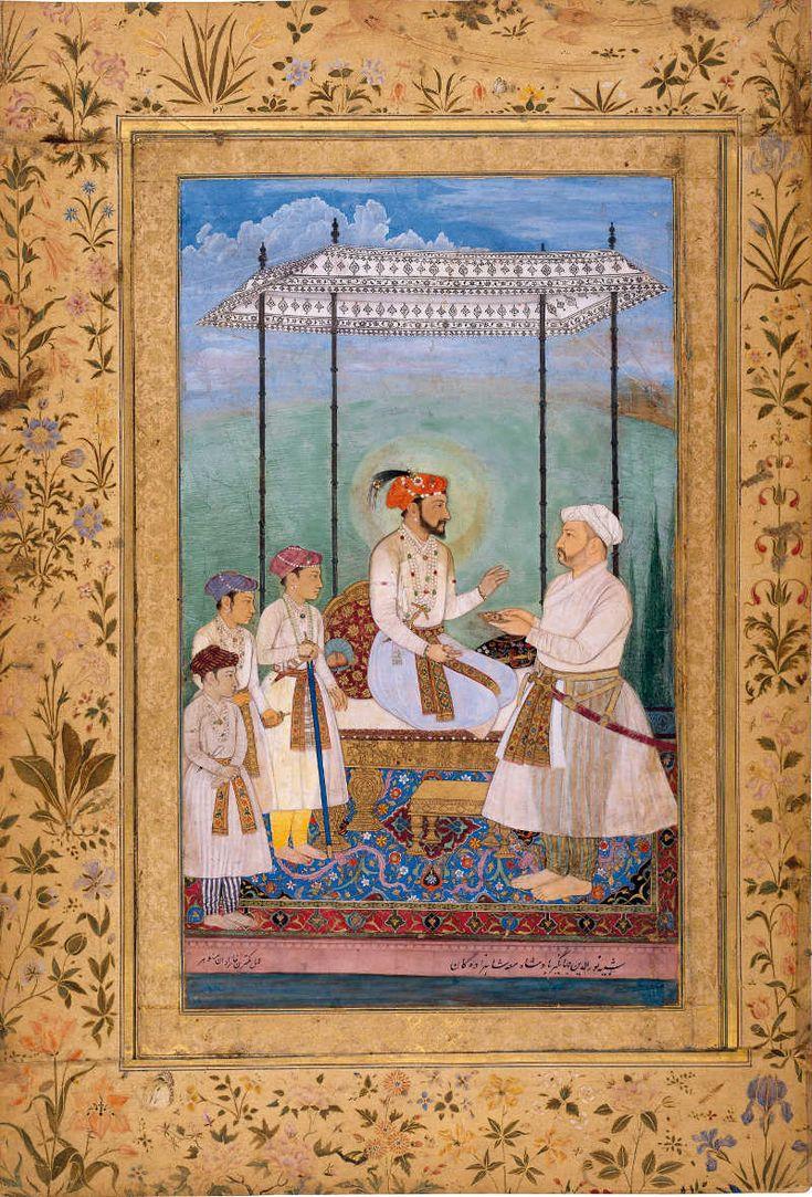 Shah Jahan with his sons Dara Shikoh, Shah Shuja, Aurangzeb and father-in-law Asaf Khan