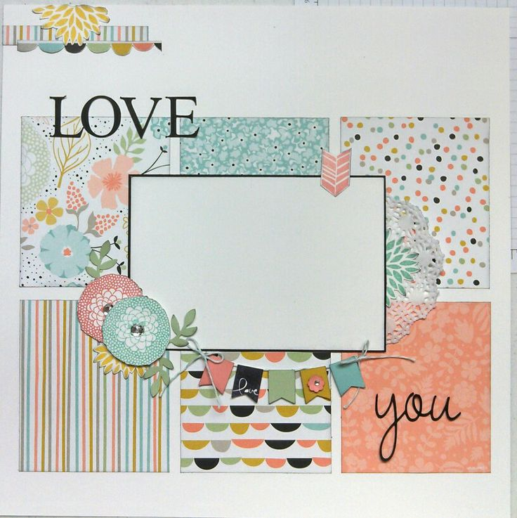Love You - Created by Sandy Mott - Stampin' Up! Sweet Sorbet paper