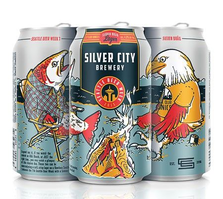 Seattle Beer Week has unveiled Sieben Braü, the official beer for their seventh year. Brewed by Silver City.