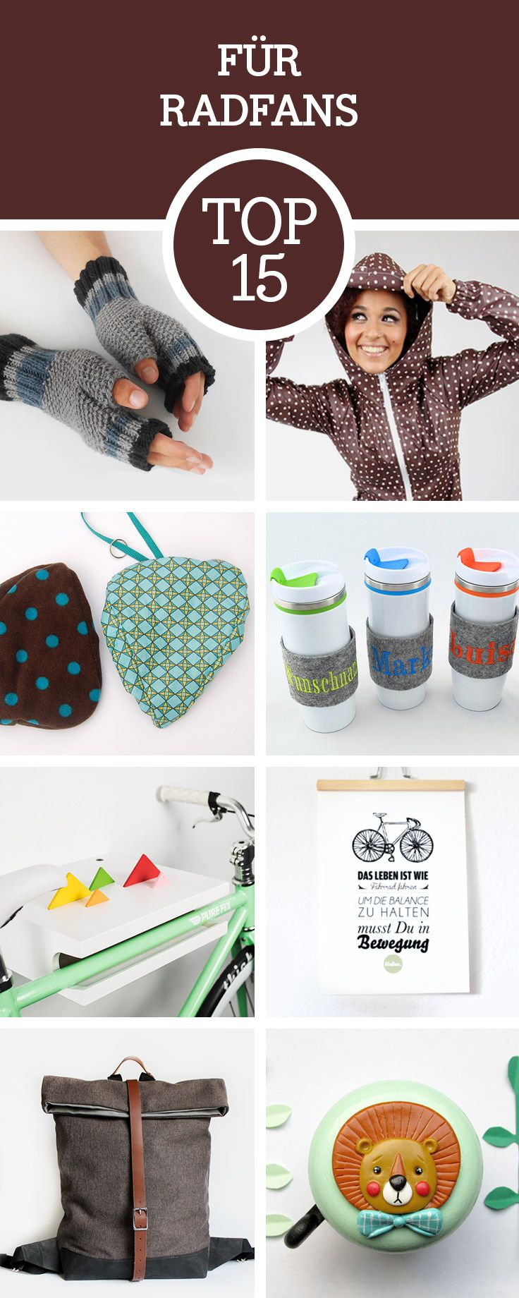 Du willst einem Radfahrer etwas witziges schenken? Dann lass Dich von unseren Top15 Geschenkideen für Radfahrer inspirieren / get inspired by our top 15 gift ideas for people, who love to ride a bike, bycicle via DaWanda.com