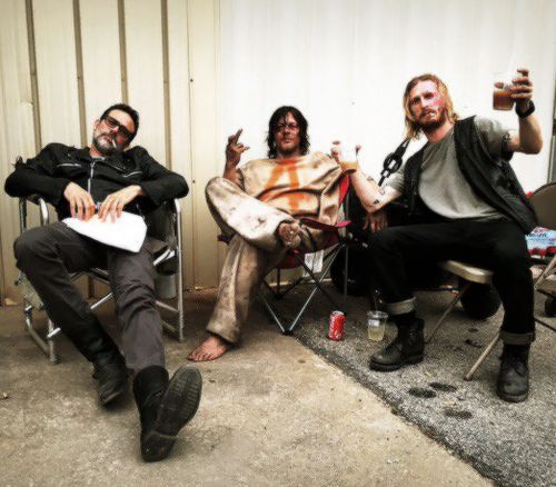 Jeffrey Dean Morgan, Norman Reedus & Austin Amelio (Behind the scenes of Walking Dead Season 7/ Ep. 3)