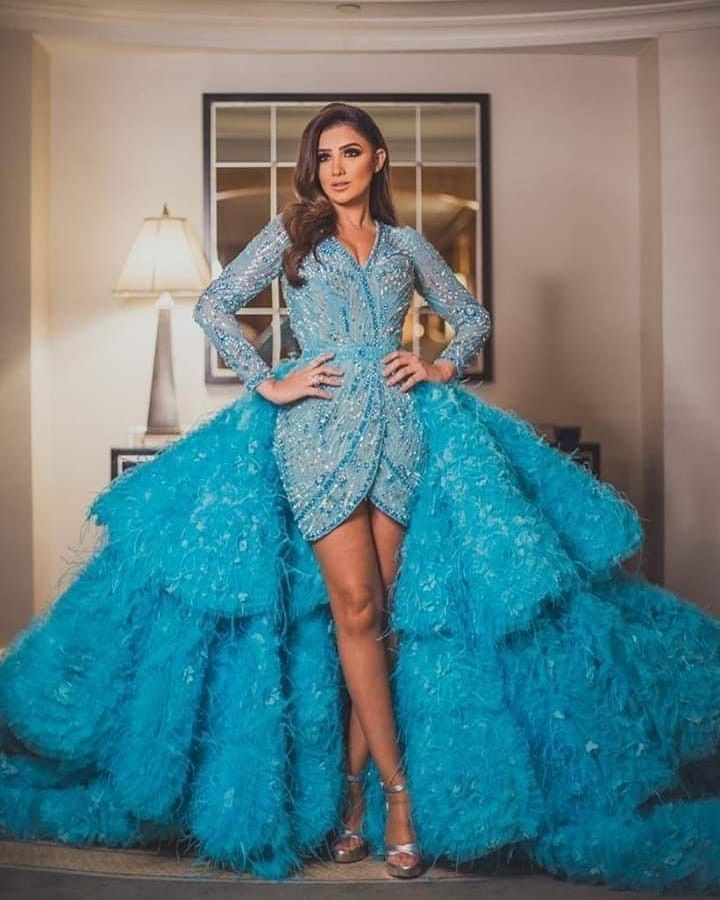 Mai Omar In Light Blue Dress Ciff Dresses Fashion Outfits Couture Gowns