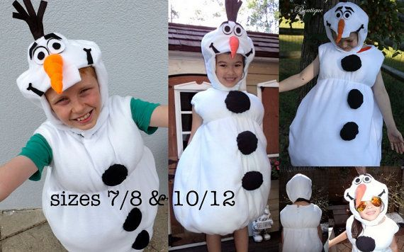 Olaf Frozen Costume PDF Pattern sizes 12months through от joy2sew