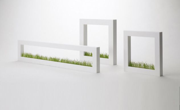 Small Indoor Potted plastic grass | Modern Indoor Grass Gardens