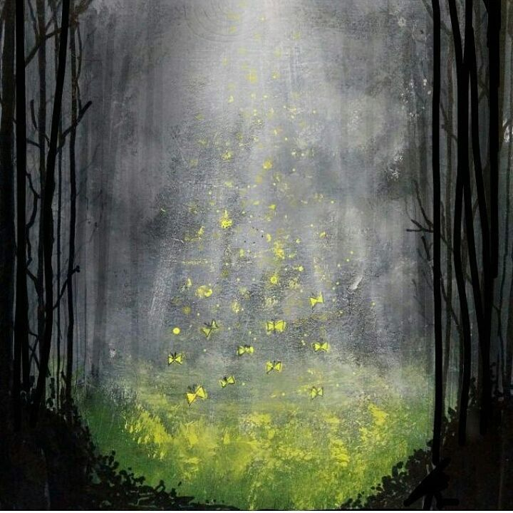 Clear In The Forest By Indian Artist Limitlessart Viddhi Paint