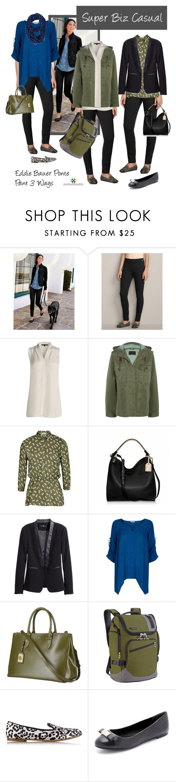 Biz Casual: Eddie Bauer Ponte Pant 3 Ways by professionality on Polyvore featuring Accessorize, NIC+ZOE, J.Crew, H&M, Marc by Marc Jacobs, Giuseppe Zanotti, Briggs & Riley, Reed Krakoff, Lauren Ralph Lauren and women's clothing